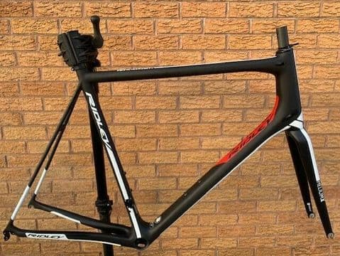 Ridley Helium X Carbon Road Bike Frameset Frame & Fork, Black - XL